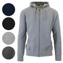 2 Pack Mens Fleece Lined Hoodie Sweater Full Zip-Up Warm Swe