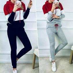 2pcs Women Tracksuit Hoodies Sweats Sweatshirt Pants Sets Sp