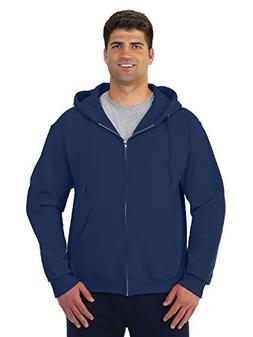 Jerzees 50/50 Super Sweats NuBlend Fleece Full-Zip Hood, XL,