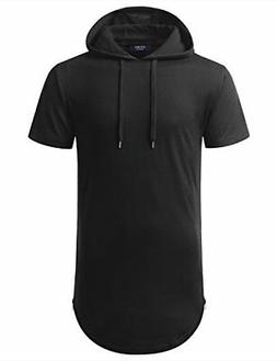 AIYINO Men's Hipster Hip Hop Hoodie Side Zipper Tshirt Mediu