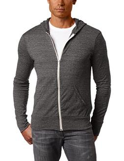Alternative mens Basic Eco-Jersey Zip Hoodie XX-Large Eco Bl
