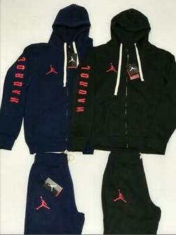 AIR JORDAN MENS NIKE SWEATSUIT HOODIE AND JOGGERS ZIP UP COM