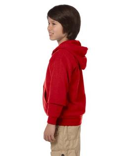 Gildan Big Boy's Heavy Blend Hooded Sweatshirt, Red, Large
