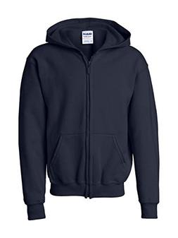 Gildan Big Boys' Heavy Blend Ribbed Full-Zip Hooded Sweatshi