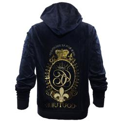 JUICY COUTURE Blue & Gold Zipper Hoodie,Her Royal Highness W