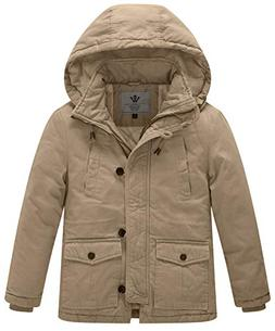 WenVen Boy's and Girl's Winter Parka Coat Thicken Cotton Twi