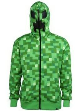 Boys Minecraft Creeper Jacket Large Hoodie Costume Youth Gre
