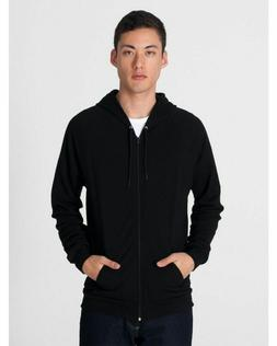 American Apparel California Fleece Zip Hoodie- Black