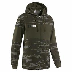 PUMA Camo Full-Zip Hoodie Men Sweat Basics