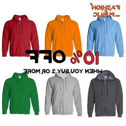 casual mens womens hoodie zipper sweatshirts zip