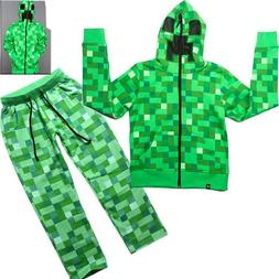 Children Halloween Creeper Kids Costume Casual Funny Green Z