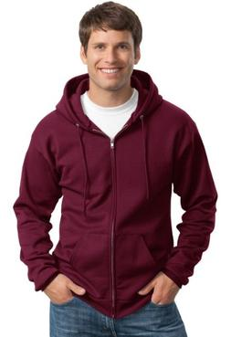Port & Company Men's Classic Full Zip Hooded Sweatshirt S Ma
