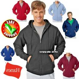 Hanes Comfort Blend Full Zip plain Hoodie sweatshirt pocket