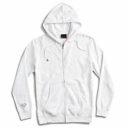 Diamond Supply Co. Men's Mini Un Polo Zip-Up Long Sleeve Hoo