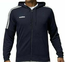 Adidas French Terry Full Zip Hoodie Hoody Sweatshirt Mens Me