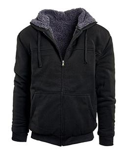 Glamsia Fresh Groove Heavyweight Sherpa Lined Full Zip Men's
