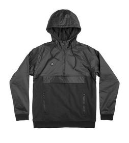 Rvca FUNCTION ZIP HOODIE Black Pullover Anorak Style Contras