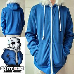 Game Undertale My Skeleton Sans Cosplay Zipper Hoodie Sweats