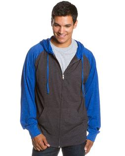 Global Men's Lightweight T-Shirt Jersey Full Zip up Hoodie H