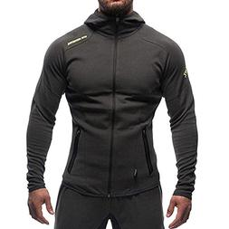 EVERWORTH Men's Gym Workout Hoodie Jacket Fitted Training Bo