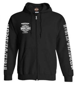 Harley-Davidson Men's Lightning Crest Full-Zippered Hooded S