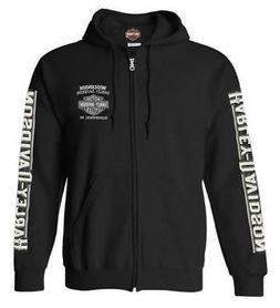 Harley-Davidson Men's Living Legend Zip-Up Poly-Blend Hoodie