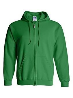 Gildan mens Heavy Blend 8 oz. 50/50 Full-Zip Hood-IRISH GREE