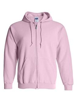 Gildan mens Heavy Blend 8 oz. 50/50 Full-Zip Hood-LIGHT PINK