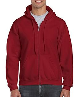 Gildan Heavy Blend Fleece Full Zip Hoodie XXL, Cardinal Red