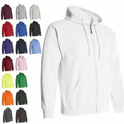 Gildan Heavy Blend Full Zip-Up Mens Hoodie Sweatshirts 18600