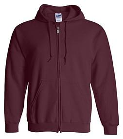 Gildan Heavy Blend Ladies' Full-Zip Hooded Sweatshirt, Maroo