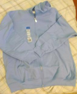 Gildan Heavy Blend Light Blue Zipper Hoodie adult Large NWT