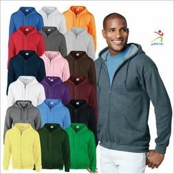 Gildan Heavy Blend Men's Full Zip Hooded Sweatshirt Classic
