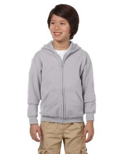 Gildan Boys Heavy Blend Full-Zip Hooded Sweatshirt, XS, Spor