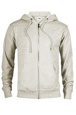 Casual Garb Hoodies for Men Heather French Terry Full Zip Ho