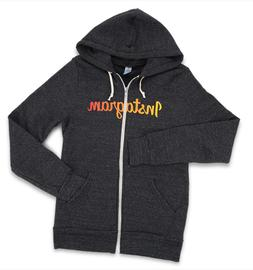 Instagram Gray Hoodie Alternative Earth Size M Small Zip Up