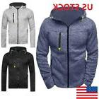 Men Fall Pullover Casual Hoodie Zip Jackets Sports Sweatshir