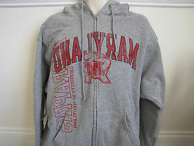 Maryland Terrapins Russell Athletic Gray Zipper Hoodie - Lar