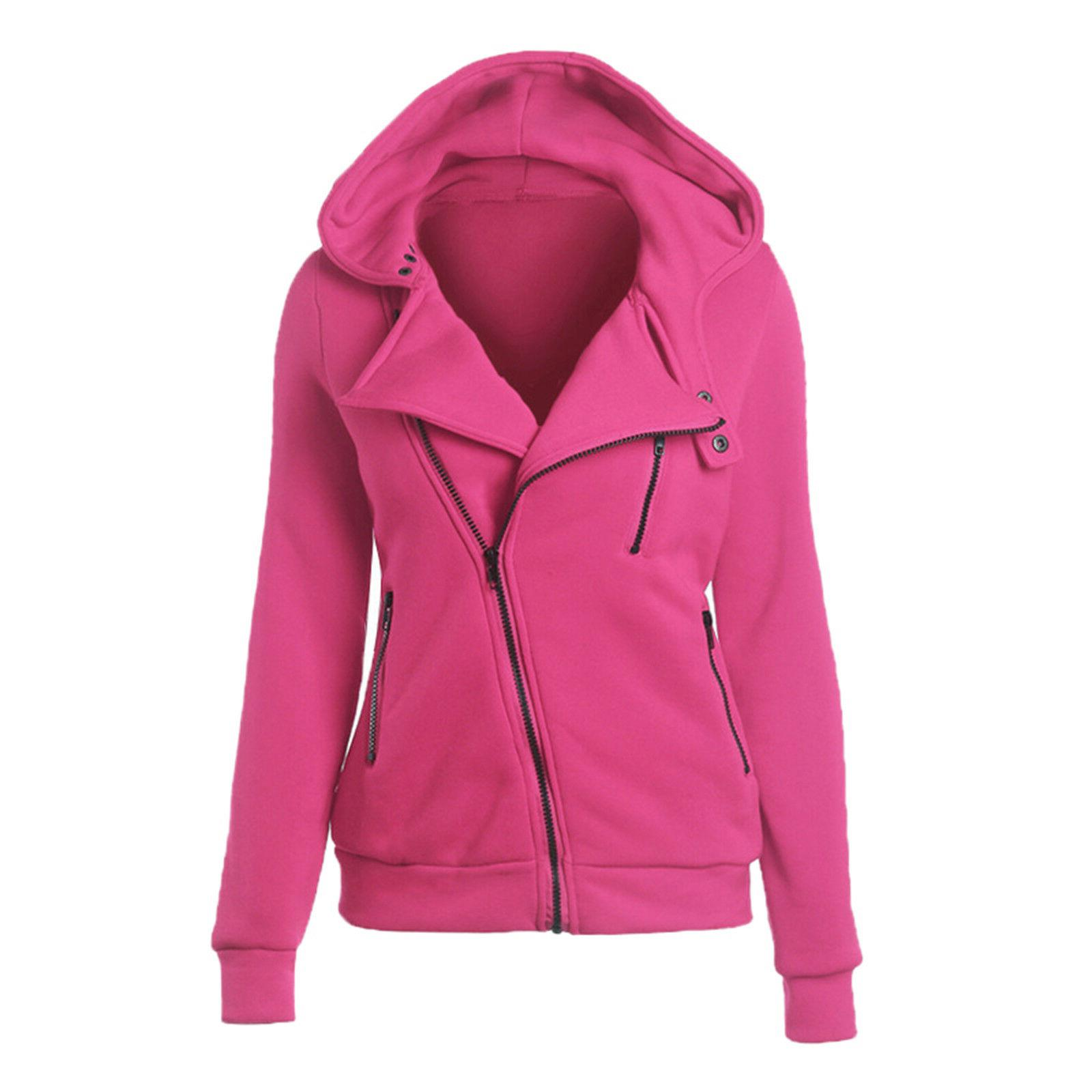 Women Hoodie Hooded Jacket Jumper
