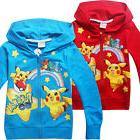 Autumn Kids Boys Girls Pokemon Go Pikachu Sweatshirt Zipper