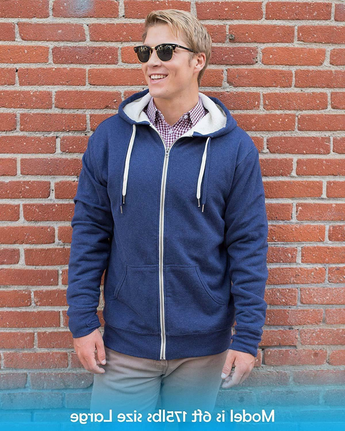 Global Sherpa Lined Zip Up Hoodie H