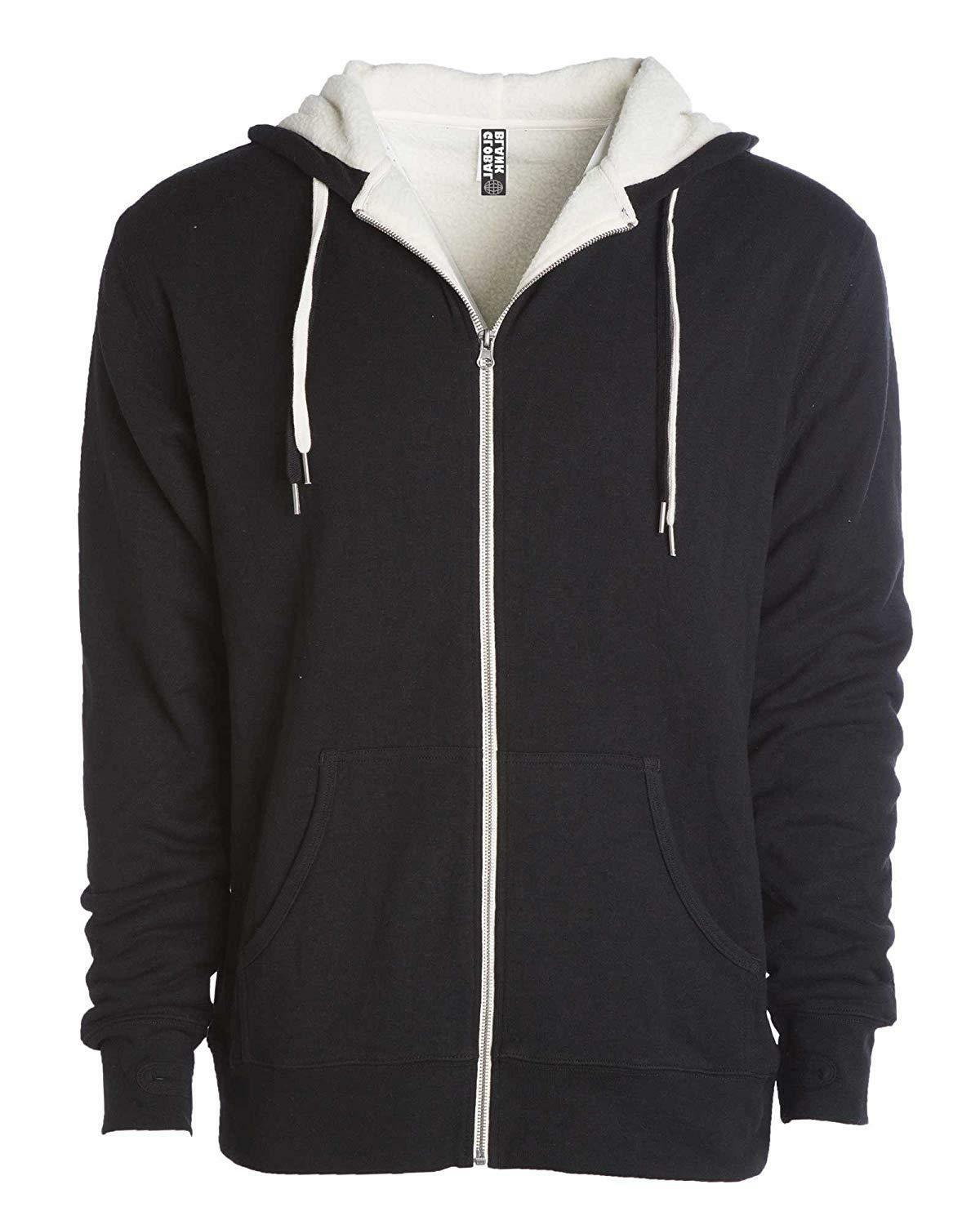 Global Heavyweight Sherpa Lined Up Fleece Hoodie H