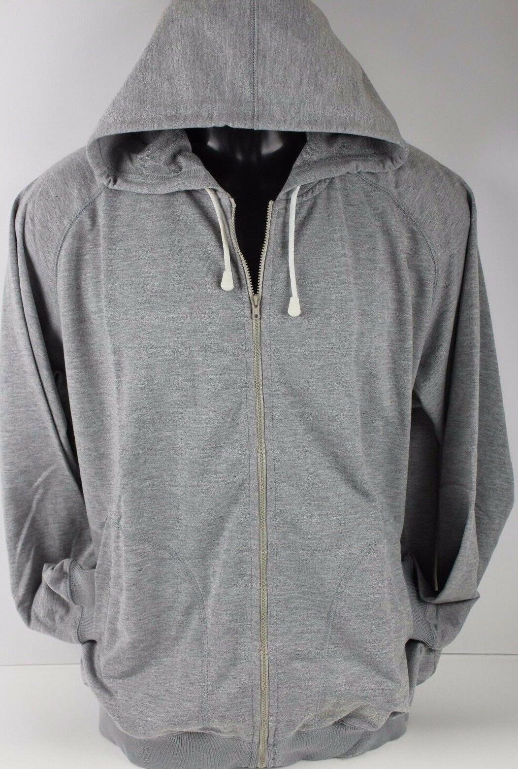 Hoodie Classic Zipper Hooded Sweatshirt Cotton adult Zip Up