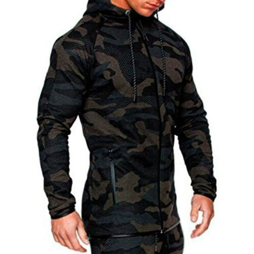 Men Hoodie Jogging Pants Gym Outfit