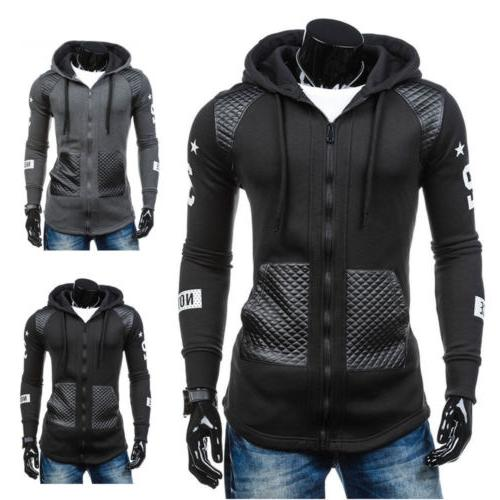Mens Hooded Jacket Sweater