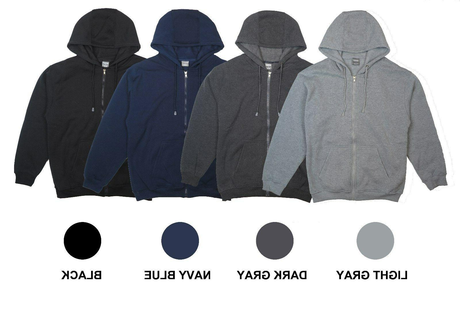 men s classic fleece zipper hoodie sweats