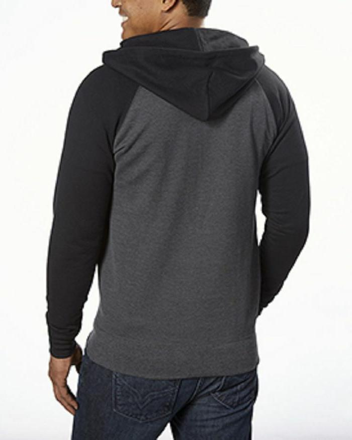 Champion Color Block Full Hoodie,Charcoal Heather/Black, Size L