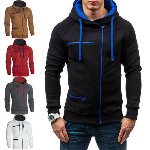 Men's Hoodie Sweatshirt Plus Size Zipper Jacket
