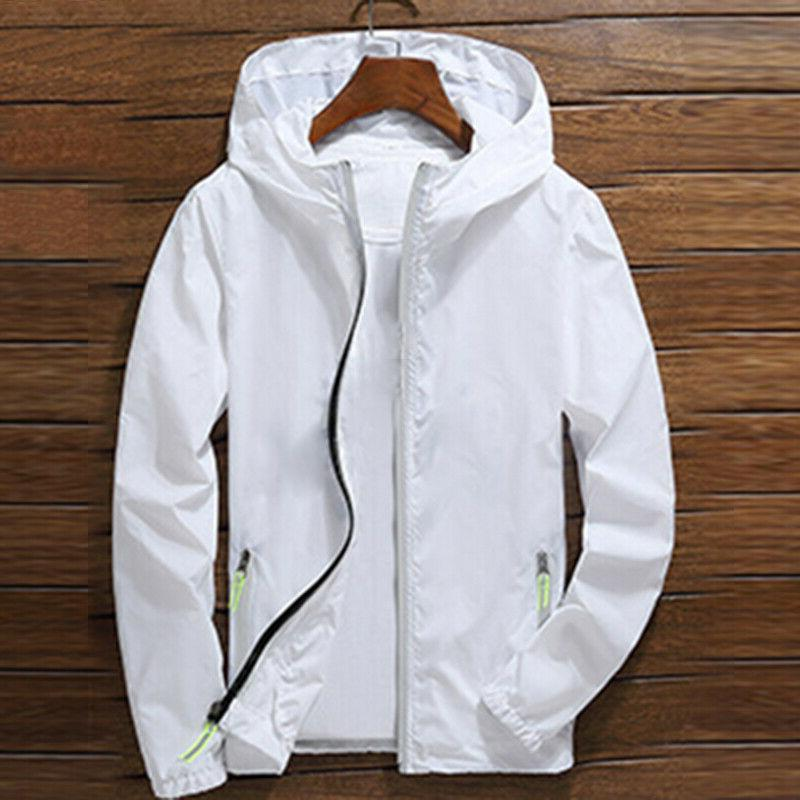 US Men ZIPPER hoodie Light Sports Coat Gym