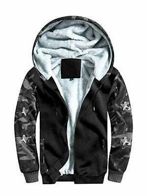 men s zip up fleece hoodies winter